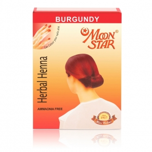 Moon Star Burgundy Henna 15 × 6 PCS = 90 RS