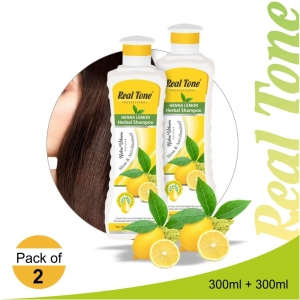 Realtone Henna Lemon Herbal Shampoo pack of 2